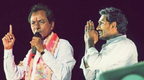 In Telangana it is TRS vs Cong while Seemandhra will see a YSRCP vs TDP battle