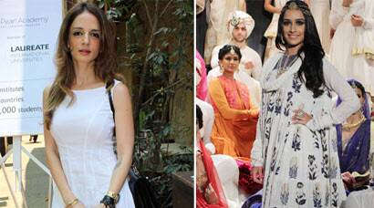 Shraddha Kapoor sizzles on ramp, Sussane Khan off it