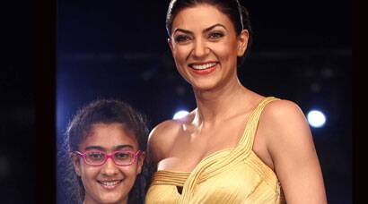 Sushmita Sen walks the ramp with daughter Renee