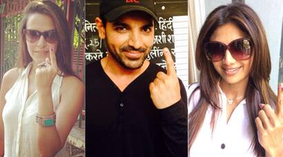 PICS: Shilpa Shetty, John Abraham, Neha Dhupia cast their vote