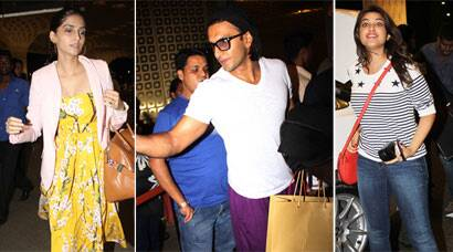 PHOTOS - IIFA 2014: Ranveer, Sonam, Parineeti leave for Tampa Bay post voting