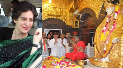 Rahul Gandhi visits Shirdi, Priyanka Vadra in Amethi