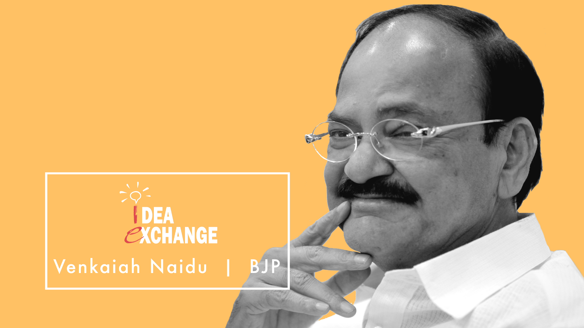 Idea Exchange : Don't want to compare the personalities of Modi and Advani: Venkaiah Naidu