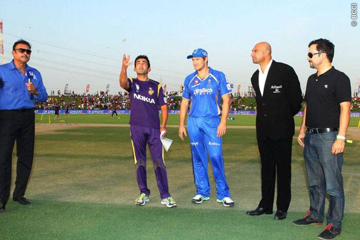 In the 19th match, Kolkata Knight Riders faced Rajasthan Royals in Abu Dhabi. Rajasthan captain Shane Watson won the toss and decided to bowl first. (Photo: BCCI/IPL)