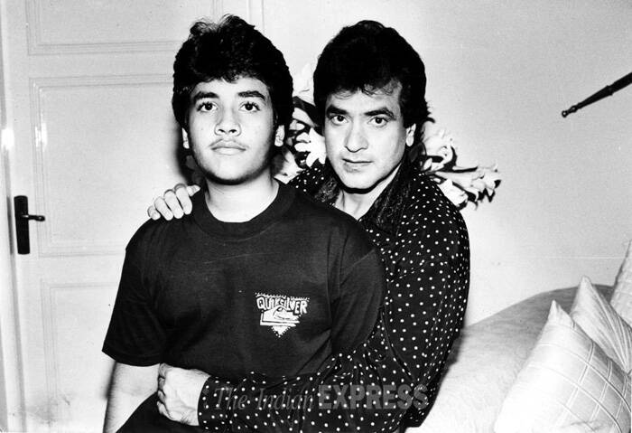 Known as the Jumping Jack of Bollywood, Jeetendra was awarded Filmfare Lifetime Achievement Award in 2003 and Screen Lifetime Achievement Award in 2005.<br />Jeetendra seen here with Tusshar. (Express archive photo)