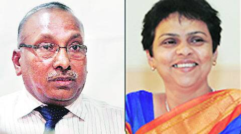 Wasudeo Gade (UoP vice-chancellor); Sampada Joshi (Ousted Controller of Examination)