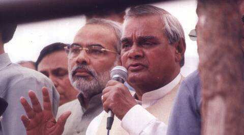 On its website, the Congress party has posted an article referring to the concerns raised by former prime minister Atal Bihari Vajpayee during the 2002 Gujarat riots.