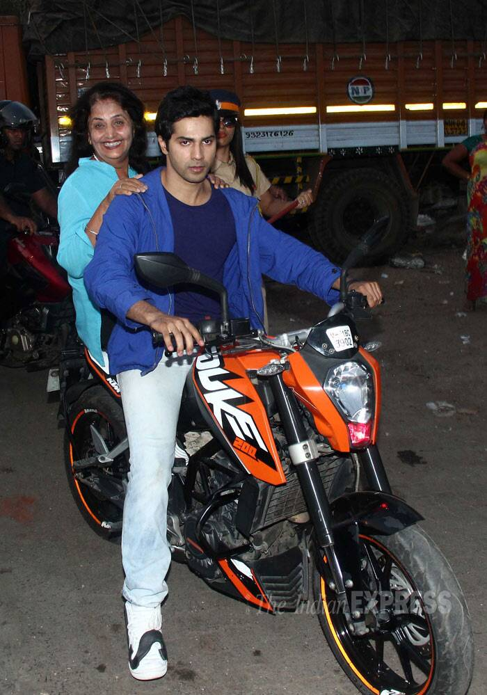'Hero' Varun Dhawan takes Ekta Kapoor for a bike ride