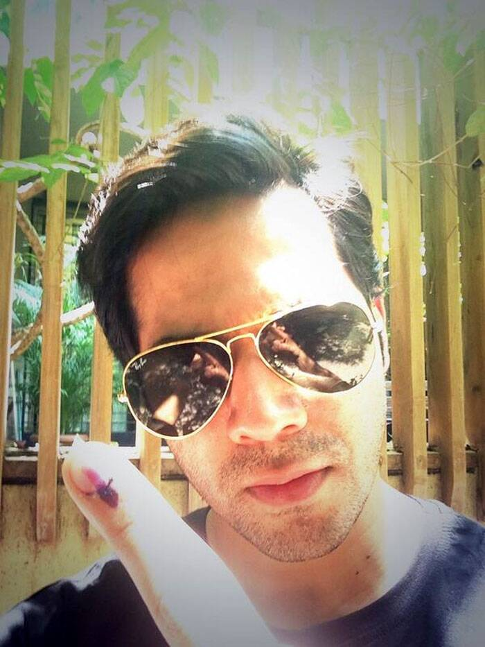"'Main Tera Hero' actor got inked on his birthday. ""I just voted have u. Be serious and go vote jaihind!"" tweeted Varun Dhawan."