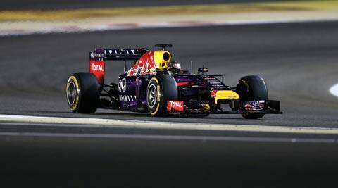 Red Bull driver Sebastian Vettel steers his car during the Bahrain Formula One Grand Prix in Bahrain. (AP)