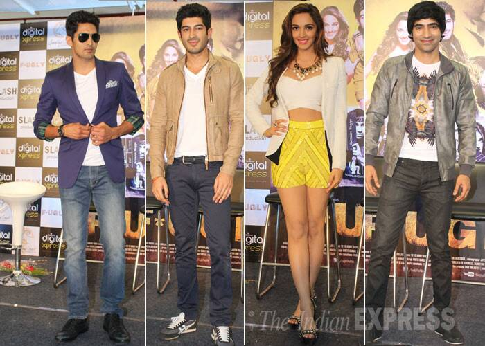 The hot debutants of Fugly - Vijender, Mohit, Kiara and Arif.  (Photo: Varinder Chawla)
