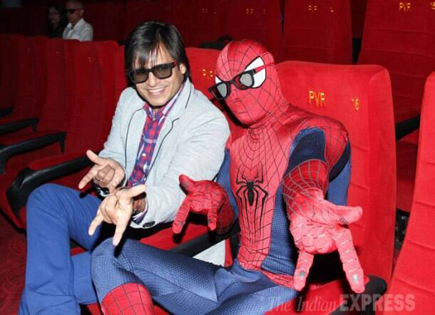 Vivek Oberoi watches 'The Amazing Spiderman-2'