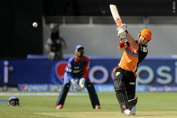 David Warner played an uncharacteristic innings of 58 runs off 45 balls for the Sunrisers Hyderabad. (Photo: BCCI/IPL)
