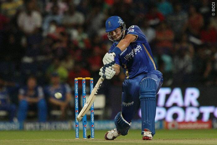 Rajasthan skipper Shane Watson played a good innings og 33 runs off 24 balls but was run out in the 16th over. (Photo: BCCI/IPL)
