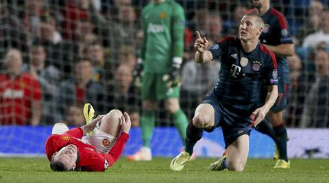 Rooney sustained an injury on his toe during last Tuesday's Champions League clash between Manchester United and Bayern Munich. (Reuters)