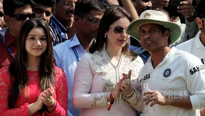 """She took care of me and just prayed and prayed everytime I played,"" Sachin added. (IE Photo: Ravi Kanojia)"