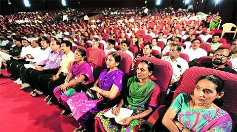 Booth-level officers at Vadodara District Election Officer's seminar on Tuesday. (Photo: Bhupendra Rana)