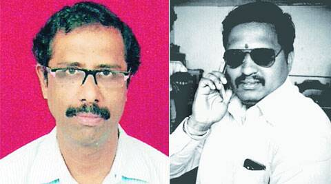 Ramesh Iyer (left) wants to work for Congress and Lawyer Sachin Pawar (right) would to work for MNS.