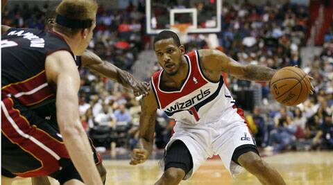 Trevor Ariza (R) scored 25 points for the Washington Wizards in their 114-93 win over the Miami Heat. (USA Today Sports)