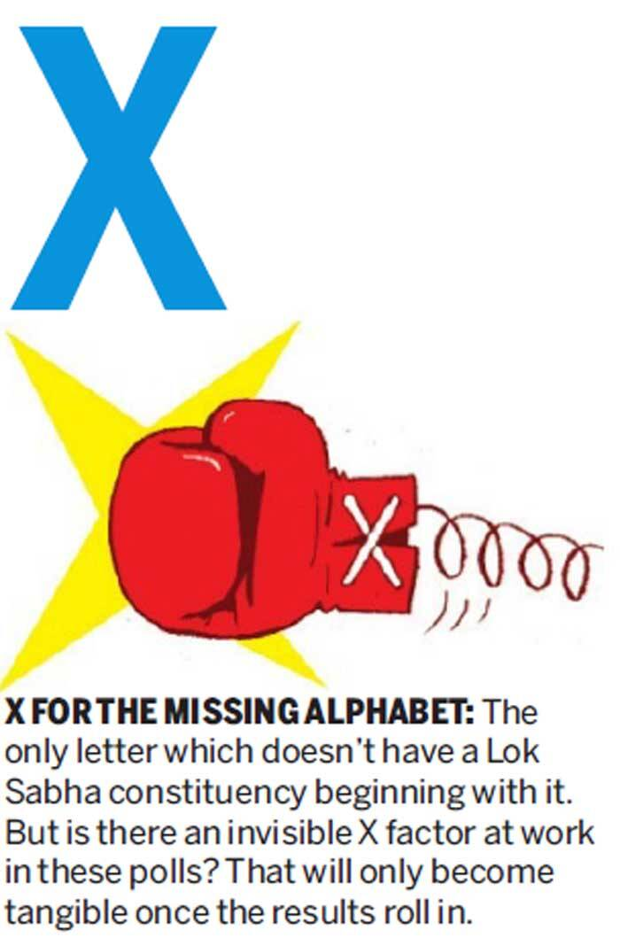 X FOR THE MISSING ALPHABHET