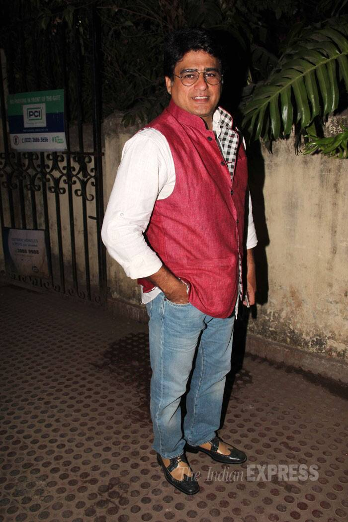 Actor Ayub Khan, who is currently see in Uttaran, was also seen. (Photo: Varinder Chawla)