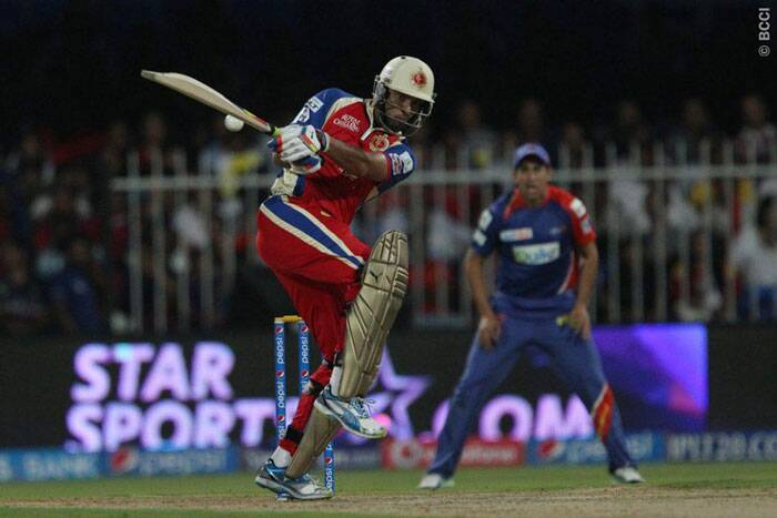 The star of the evening was the man in this frame. Yuvraj Singh, who was brought for a whooping 14 crore, had a lot of pressure on his shoulders, especially after the poor show in ICC World T20. With his back to the wall, Yuvraj  fired all cylinders and hit a 29-ball 52 which was laced by three fours and five sixes (Photo: BCCI/IPL)