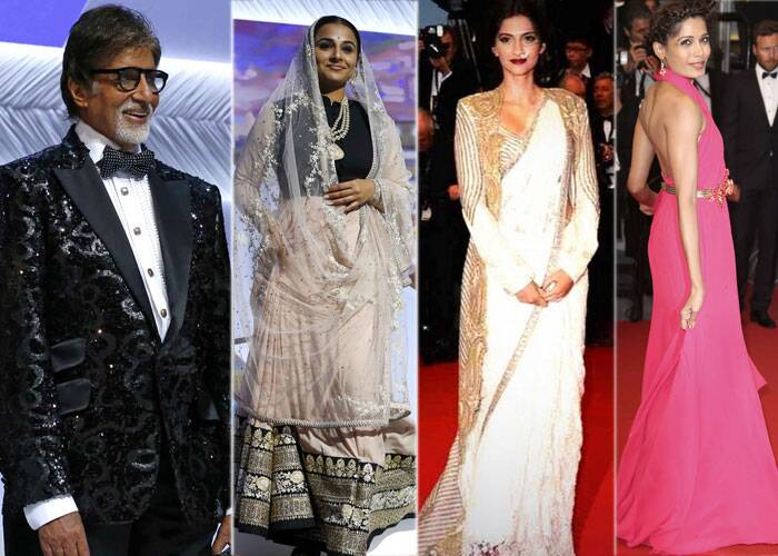 Bollywood actors Amitabh Bachchan, Vidya Balan, Sonam Kapoor, Freida Pinto stole the show at the opening ceremony of 66th Cannes Film Festival on May 15, 2013.  The Cannes Film Festival got off to a great start, as Baz Luhrmann's The Great Gatsby opened on a soggy French Riviera. (AP)