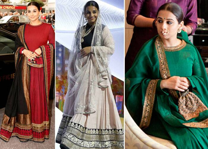 Vidya Balan, who made her Cannes Film Festival debut as the jury member in 2013, wowed us with her choice of traditional wear. The predictable Vidya Balan did manage to grab eyeballs - be it her lehengas or the nathni. <br /><br /> Her personal favourite and friend Sabyasachi - no surprises - designed all the outfits that she wore at the festival. Here's a look at Vidya's style file at the Cannes red carpet.