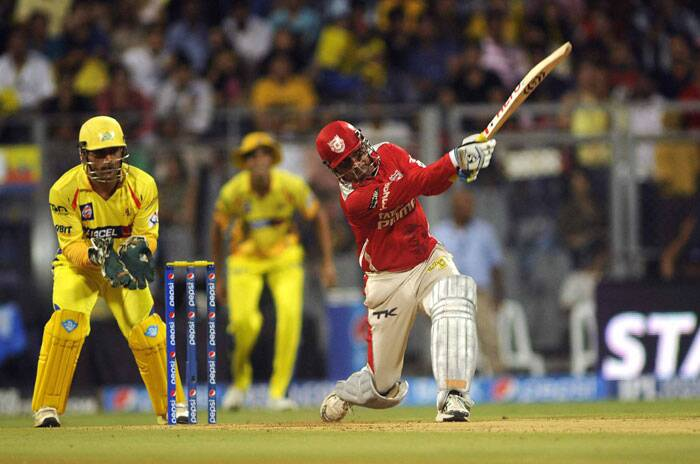 This was VIrender Sehwag's second hundred in IPL and first for this season. Sehwag also became the second batsman to score a century in this year's IPL after Mumbai Indians' Lendl Simmons. (Source: IE Photo by Kevin D'Souza)
