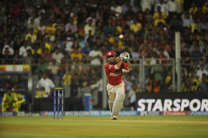 The Mumbai crowd were in for a treat again after the Corey Anderson innings. This time it was Virender Sehwag who took the Chennai bowling apart with a swashbuckling 122 of just 58 balls. (Source: IE Photo by Kevin D'Souza)