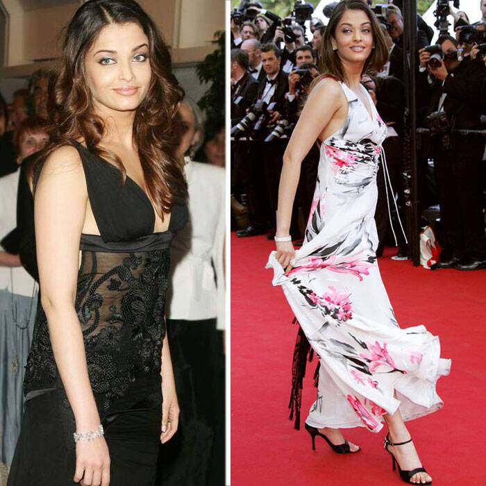 <b>Cannes 2005:</b> After three years of fashion disasters at Cannes, Ash finally got it right in 2005. She wowed all in her flirty, printed dress by Giorgio Armani.<br />Next came another winner in the form of a black Gucci gown which had a plunging neck.