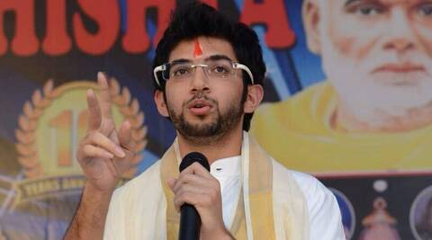 Shiv Sena youth wing leader Aaditya Thackeray.