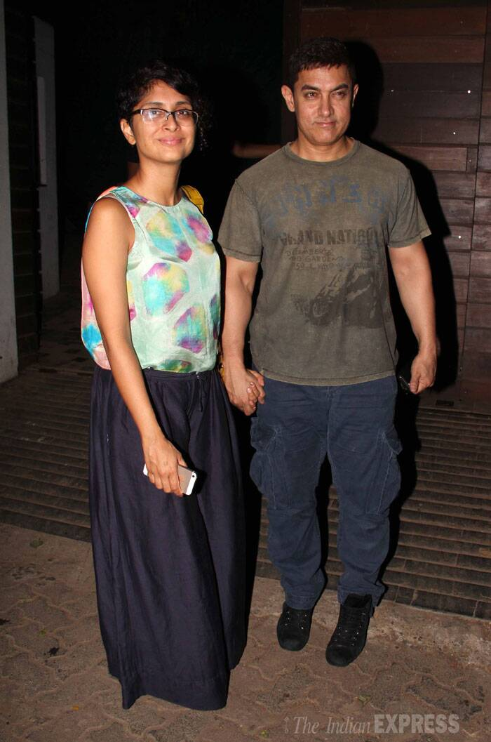 Mr. Perfectionist Aamir Khan was also spotted along with wife Kiran Rao. (Source: Varinder Chawla)