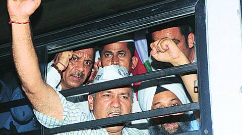 AAP leaders said Ilmi's concerns would be looked into once Kejriwal was out of jail. (Source: Express photo)