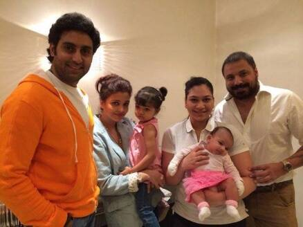 Unseen pics: Abhishek, Aishwarya  and daughter Aaradhya hang out with friends
