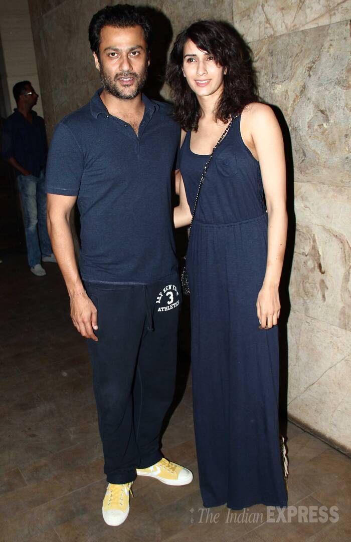 'Kai Po Che' director Abhishek Kapoor came with fiancee Pragya. (Source: Varinder Chawla)