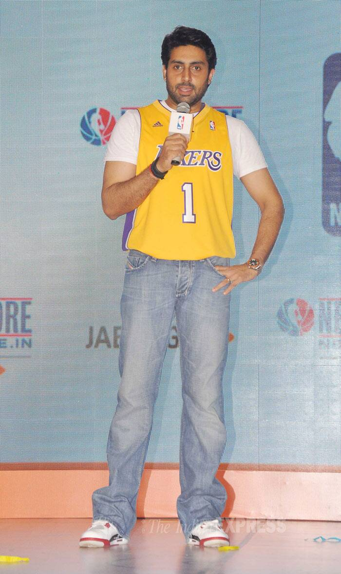 Abhishek Kapoor was dressed casually in a yellow T shirt and blue jeans at the NBA store launch. (Photo: Varinder Chawla)