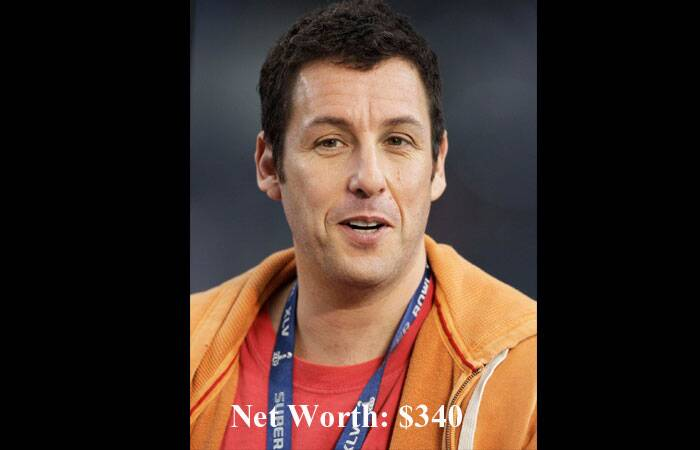And lastly, '50 First Dates' actor Adam Sandler takes the tenth position. (Source: AP)