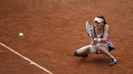 Poland's Radwanska reached the Australian Open semi-finals in January but played poorly on Friday, causing the world No. 72 few problems. (Source: Reuters)