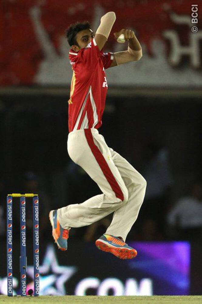 Kings XI Punjab's formidable spinner Akshar Patel was at the top of his game on Friday as he chipped in with three wickets in his four overs. (Source: IPL/BCCI)