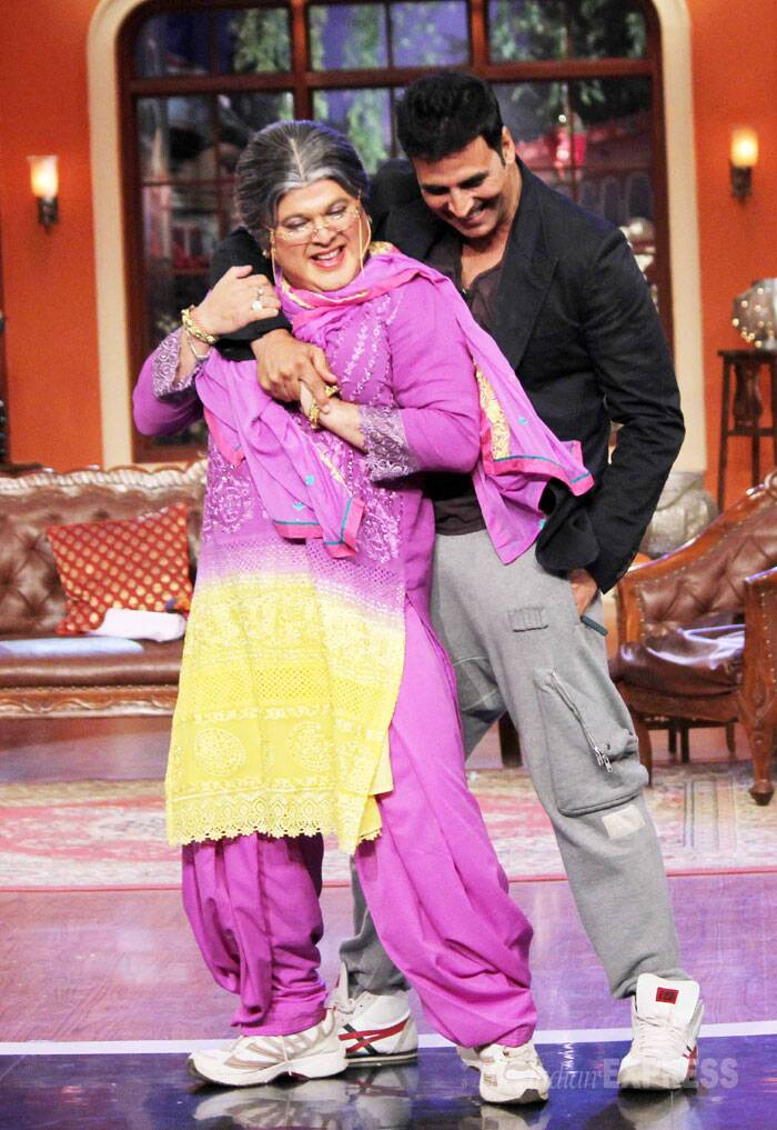 The actor shakes a leg with Dadi played by Ali Asgarh. (Source: Varinder Chawla)
