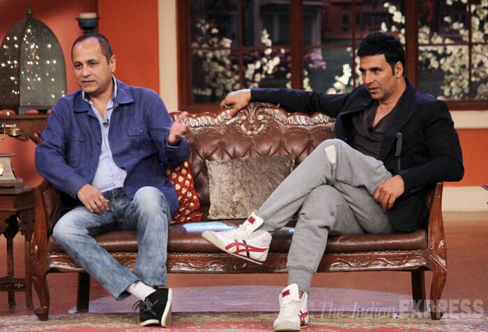 Director of 'Holiday: A Soldier Is Never Off-Duty' A.R. Murugadoss also accompanied Akshay on the show. (Source: Varinder Chawla)