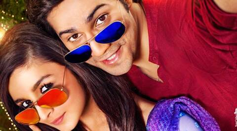 The film's first poster features Alia Bhatt and Varun Dhawan posing for a seflie, which they call a 'Humphie'.