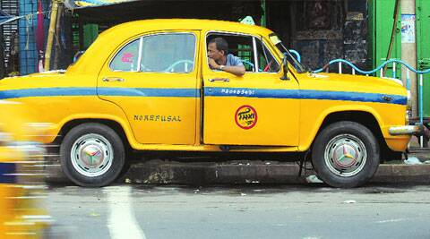 A yellow Ambassador taxi in Kolkata. Pic: Partha Paul