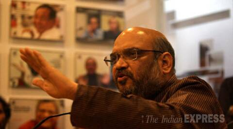 Amit Shah made the projection during an Idea Exchange programme of The Indian Express. (Source: Express photo by Renuka Puri)