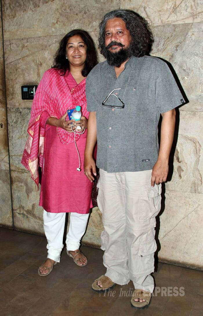 Director of Hawaa Hawaai' Amol Gupte, who will also be starring in the film, was accompanied by his wife Deepa Bhatia. (Photo: Varinder Chawla)