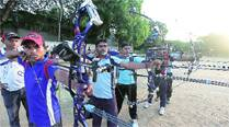 Armed with modern bows, archers aim for Olympics
