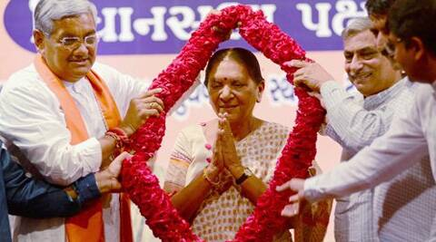 73-year-old Patel, state's Revenue Minister and a close aide of Modi, was elected unanimously as the leader Gujarat BJP Legislature Party. (Source: PTI)
