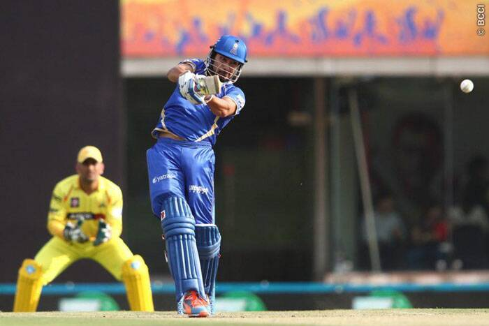 Rajasthan Royals came out on the field to bat with a new opening pair, which comprised of newcomer Ankit Sharma and skipper Shane Watson. The 23-year-old youngster from Madhya Pradesh was impressive with both bat and ball, as he struck 30 runs from 27 balls, and later took two wickets. (IPL/BCCI)