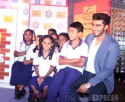 Arjun Kapoor spends a day with underprivileged kids